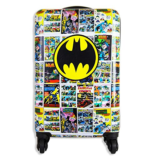 Batman Luggage 20 Inches Hard-Sided Tween Spinner Carry-On Travel Trolley Rolling Suitcase for Kids