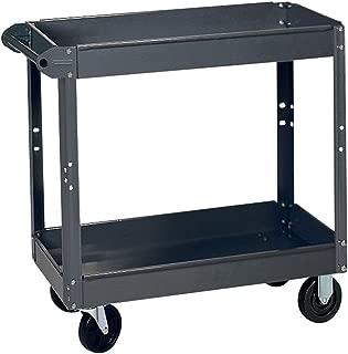 Vestil SPS2-2848 Steel Service Cart with Step Ladder 1000 lbs Load Capacity 2 Shelves Blue 48 Length x 28 Width 35-5//8 Height