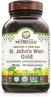 NutriGold St. John's Wort Gold (European Pharma Grade) (Clinically-proven), 300 mg, 90 Veggie Capsules