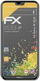 atFoliX Skärmskydd är kompatibel med Nokia X6 2018 Skyddsfilm, antireflekterande och stötdämpande FX Film (3X)