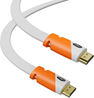 Flat HDMI Cable 25ft - High Speed Hdmi Cord - Supports Ethernet 4K 3D 2160p - HDMI Latest Standard - CL3 Rated - 25 Feet