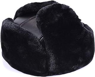 3d379c8115938 DOSOMI Winter Men s Warm Aviator hat Faux Leather Cap Earmuffs Durable Fur  Ushanka