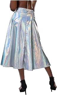 cheelot - Falda holográfica Metalizada para Mujer