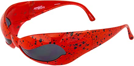 LINDA FARROW Jeremy Scott Superhero Red Splatter Wave Mask NUWAVE Sunglasses