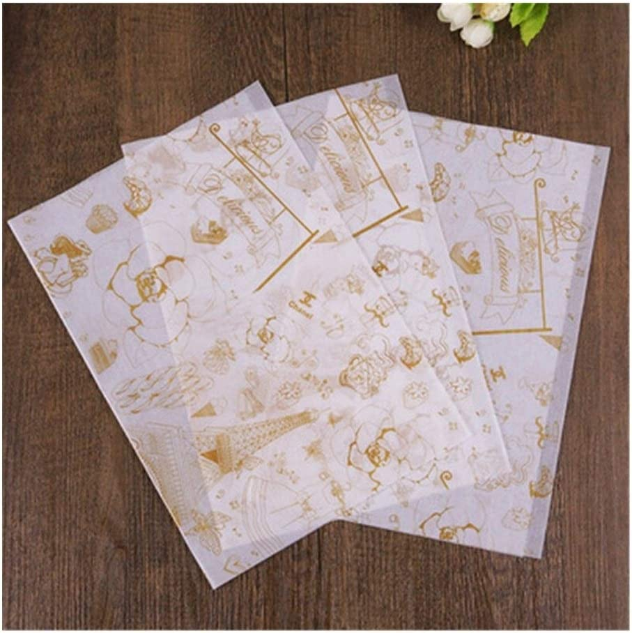 Super sale HLWJ 50pcs Max 41% OFF Baking Paper Grade Wax Food Wrappers