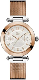 Gc Womens Quartz Watch, Analog Display And Stainless Steel Strap - Y48002L1MF