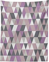 Lunarable Geometric Tapestry Twin Size, Abstract Triangles Polygon Art Modern Fashion Avant Garde Contrast, Wall Hanging Bedspread Bed Cover Wall Decor, 68