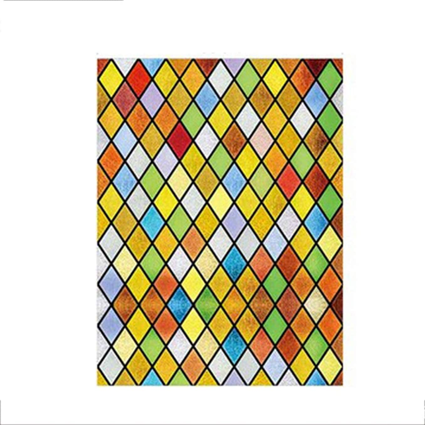 ビジョン論争的訪問DEWUFAFA ウィンドウフィルム静的しがみつくウィンドウフィルム3D自己粘着粘着装飾プライバシーホームキッチンOfficeのフロストガラス窓のフィルムステッカーアンチUV、 (Color : E, Size : 100x180cm)