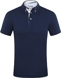 Men's Shirts Short Sleeve Tech Performance Golf Polo Dri-Fit Shirt Standard Fit
