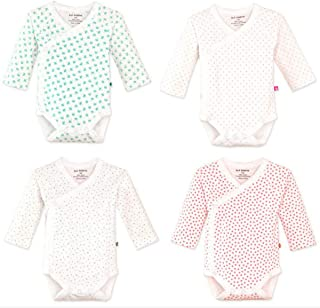 Infant Baby Boys Girls Long Sleeves Kimono Onesies Cotton Side Snap Bodysuit Pack of Fall Winter Baby Clothes