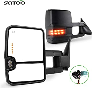 SCITOO Towing Mirrors Fit for 2003-2006 for Chevy Silverado Tahoe Suburban Avalanche for GMC Sierra Yukon for Cadillac Pow...