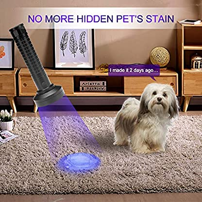 Escolite UV Flashlight Black Light, 100 LED 395 nM Ultraviolet Flashlights UV blacklight Detector for Dog Urine, Pet Stains and Bed Bug, Matching with Pet Odor Eliminator 4