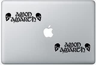 Amon Amarth Skulls FlashDecals0886 Set Of Two (2x) , Decal , Sticker , Laptop , Ipad , Car , Truck