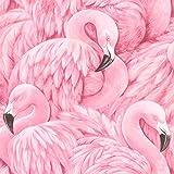 rasch Tapete 803211 aus der Kollektion Lucy in the Sky – Vliestapete in Pink mit Flamingo-Design – 10,05m x 53cm (L x B)