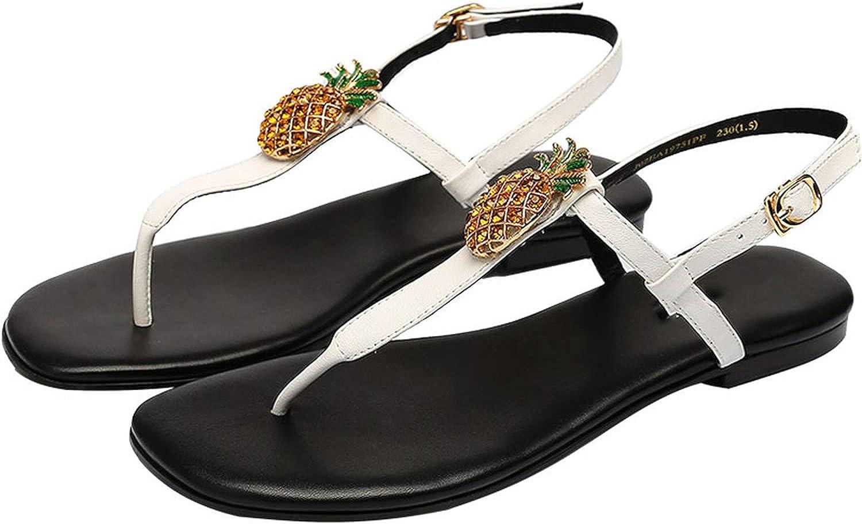 Yuren Snow 2019 Summer Women Sandals Diamond Decoration Sandals Flat Beach shoes Flip Flops Woman Sandals