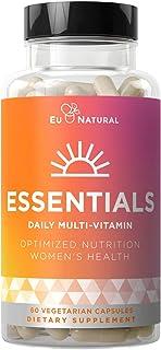 Essentials Multivitamin for Women – 22 Optimized Vitamins for Immunity, Beauty, Brain, Energy, Bones and Heart – Vitamin ...