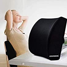 EZONEDEAL Memory Foam Seat Chair Waist Lumbar Back Support Cushion Pillow for Office Home Car Gaming Back Pain Problems So...