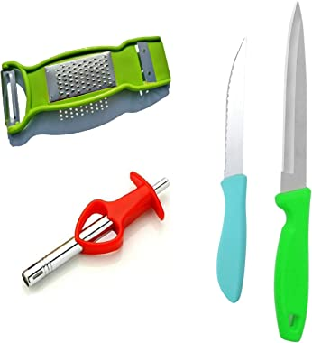 Pearl Berry Kitchen Tool Set Stainless Steel Knife Set Heart Ges Lighter and Multi Functional 3in1 Peeler Kitchen Tool Set Co
