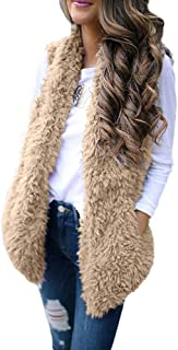 Outwear Vest Women Hoodie Waistcoat Sherpa Jacket Faux Fur Coat Casual