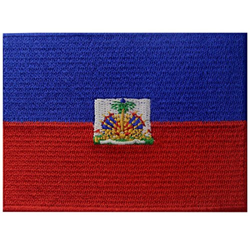 Haiti-Flagge Bestickter Haitianisch Aufnäher zum Aufbügeln/Annähen