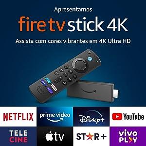 Fire TV Stick 4K com Controle Remoto por Voz com Alexa (inclui comandos de TV) | Dolby Vision