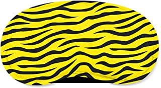 Zebra Print Yellow - Sleeping Mask - Sleeping Mask