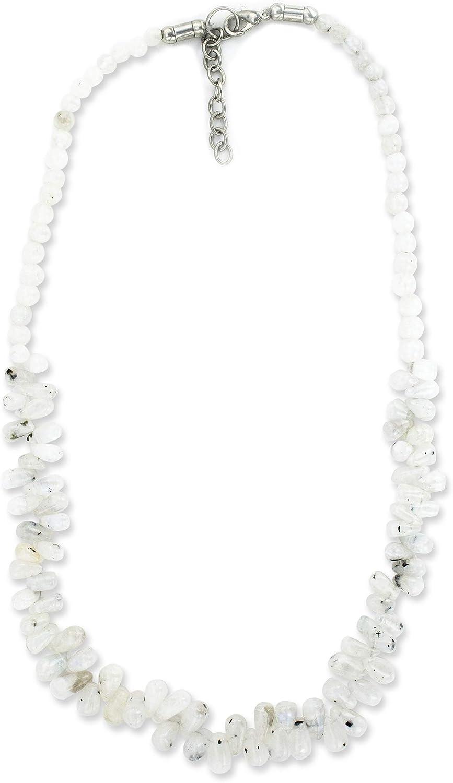 Mystic Regular dealer Import Self Moonstone Necklace - Natural White Gemstone Handmade
