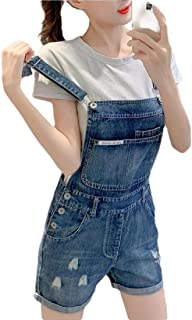 XINHEO Women Curling Overalls Jeans Slim-Fit Fresh Washed Bib Pants