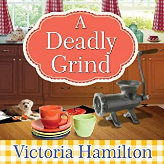 A Deadly Grind     Vintage Kitchen Mystery Series, # 1              By:                                                                                                                                 Victoria Hamilton                               Narrated by:                                                                                                                                 Emily Woo Zeller                      Length: 9 hrs and 33 mins     1,005 ratings     Overall 3.7