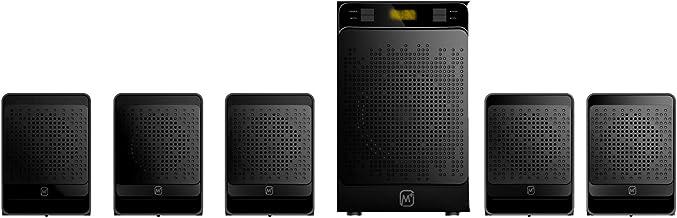Matata MTM51392 True 30 Watt 5.1 Channel Multimedia Speaker with Built in Amplifier, LED Display, Multi Connectivity - Wir...