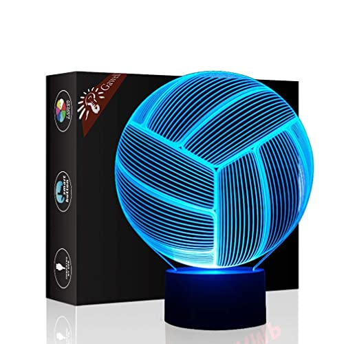 Christmas Gift Volleyball 3D Illusion Birthday Present Lamp Gawell 7 Color Changing Touch Switch Table