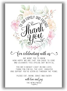 Wedding Thank-You Place Cards - Set of 50 - Blank Wedding Stationery - Beautiful and Minimalist Wedding Planning Supplies for Under $15!