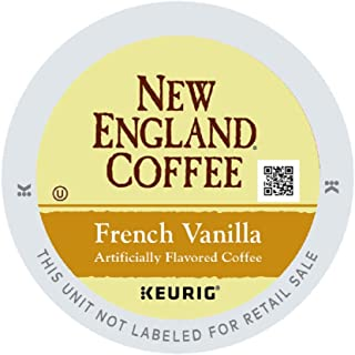 New England Coffee French Vanilla, Single Serve Coffee K Cup Pods, Medium Roast, 12Count (pack of 6)