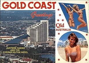 Jupiters Casino and the Conrad Hilton Hotel Gold Coast, Australia Original Vintage Postcard