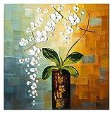 Wieco Art– Peinture florale à l'huile sur toile « Beauty of Life » faite entièrement à la main, prête à accrocher dans un salon, une chambre, décoration d'intérieur