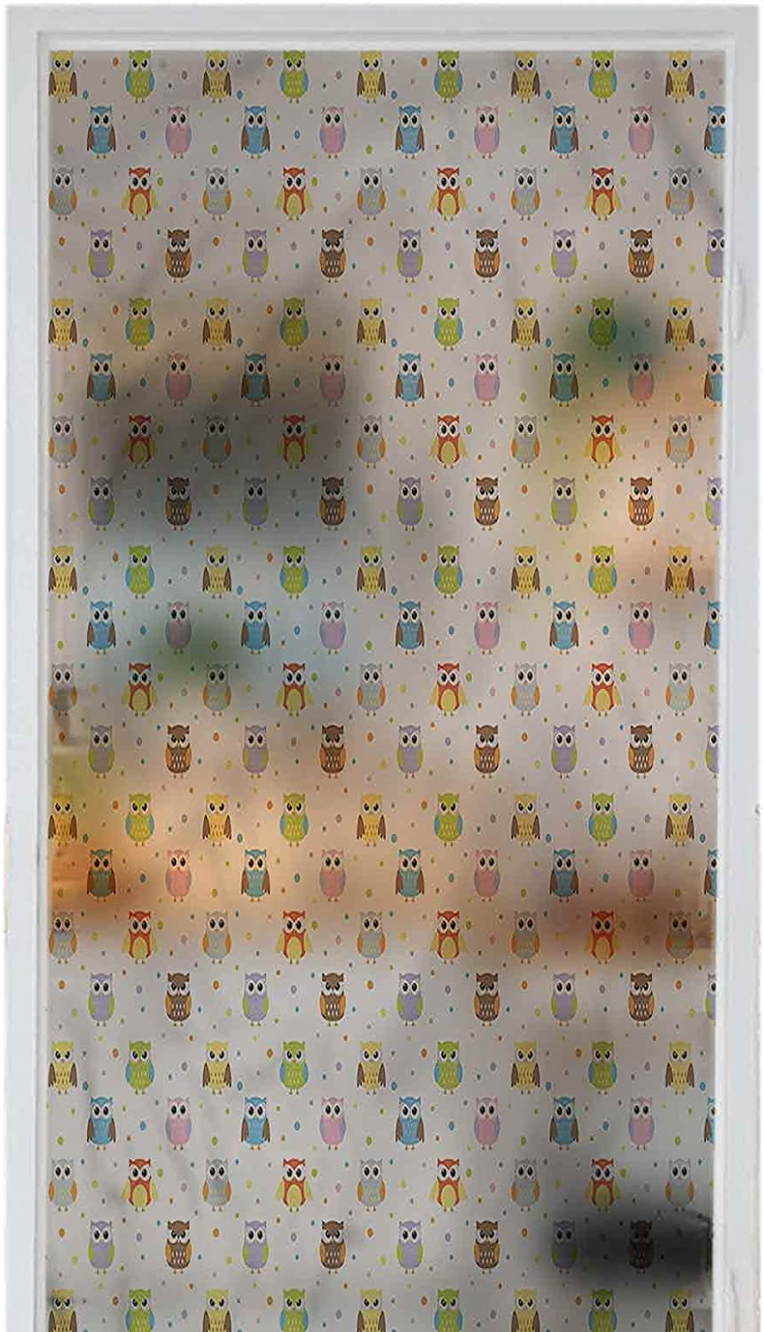 Homesonne Bathroom Window Film PVC C Angry Waterproof Direct stock discount Max 49% OFF Owls Funny