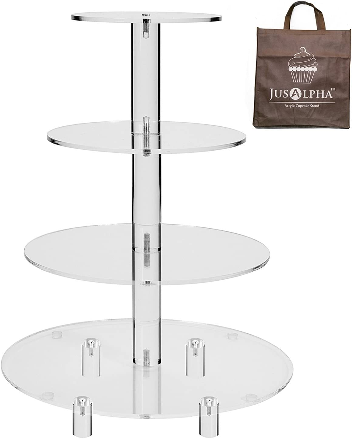 4 Tier Round Wedding Acrylic Cupcake Tower Cup Now on sale Cake latest D Stand Tree