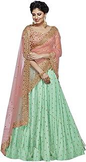 Wedding Reception wear Taffeta Silk Indian Lehenga Cholis Women Stylish Ethnic dress 8161
