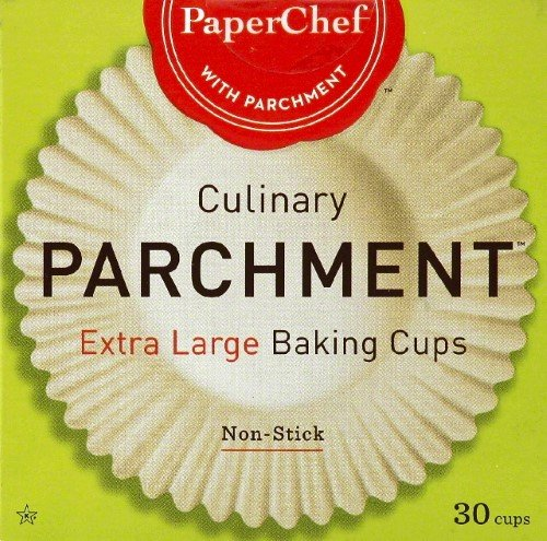 PaperChef Culinary Parchment Baking Cups, X-Large, 30