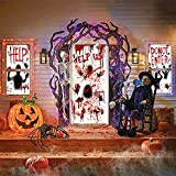 Jinhuaxin Halloween Aufkleber, Halloween Blutige Sticker