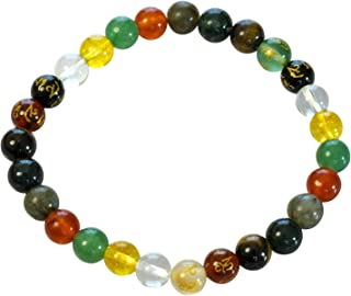 Chakra Balancing Natural Crystal Gemstone Stretch Bracelet Genuine Spiritual Gift for Women Men | Crystals for Luck Wealth...