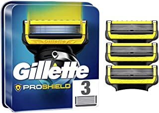Gillette ProShield Men's Razor Blades with 5 Anti-Friction Blades for a Close and Durable Shave, 3 Refills