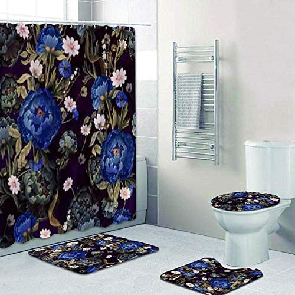 Colorful Bohemian Floral Pattern Spring new work wholesale S Shower Curtain