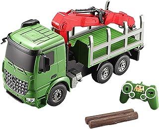 RC camión grúa Juguetes 2.4G Escala Modelo de Coche Control Remoto Recargable Coche Eléctrico Grúa Tractor con Luces y Sonido Máquinas de Construcción Juguete Grúa