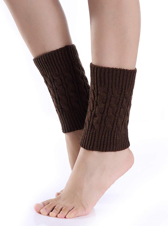 GloryMM Women Short Crochet Leg Warmers Soft Ankle Warmer Knit Boot Cuffs Winter Warm Cuff Socks Perfect Winter Gift