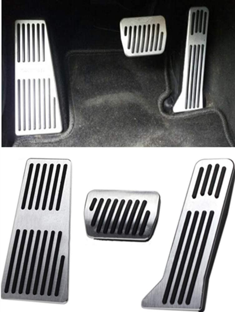 SureMart for Mazda 2 3 6 CX 3 CX 4 CX 5 CX 9 No Drill Non-Slip Performance Car Rest Pedal Brake and Gas Pedal Covers Accessories Replacement Pedal Aluminum Alloy Pedals Set at with Logo 2Pcs