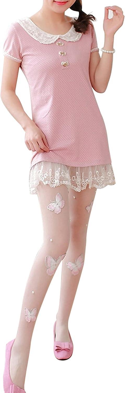 Women Mesh Stockings, Silky Sheer Support Pantyhose Embroidery Butterfly Socks Sweet Socks Wear