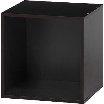 不二貿易 キューブボックス 幅34.5cm ブラウン 収納 組み合わせ自由 81900