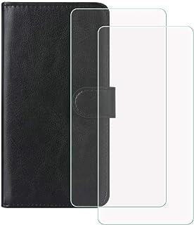 """YZKJ Funda para Hisense V40 (6.5"""") + [2 Piezas] Cristal Templado Protector de Pantalla,Cover Flip Case PU Cuero Caso Funci..."""