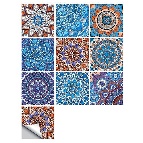 Pegatinas Para Azulejos, Autoadhesivas, Impermeables, Marroquíes, Para Cocina, Baño, Suelo, Pared, Azulejo, Mosaico, Estilo Azul, Transferencias De Azulejos Para Decoración Del Hogar